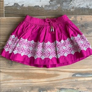 Hot pink embroidery skirt